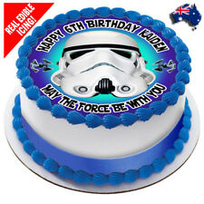 Star Wars Edible Icing Image Cake Topper Personalised Birthday Party Decoration