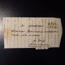 1819 LETTRE COVER MARQUE POSTALE P. 12 P. ARLES POUR AIX