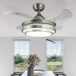 """42"""" Ceiling Fan With Light Remote Control LED Ceiling Lamp Dimmable Bedroom"""
