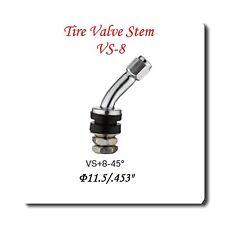 """1 Kit VS-8-45  Chrome Tire Valve Stem for Holes Φ11.5 mm /.453"""" Fits: Motorcycle"""