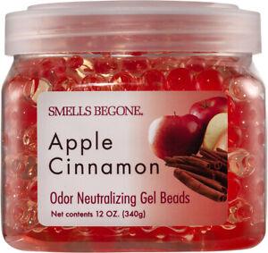 SMELLS BEGONE Odor Eliminator Gel Beads - 12 Ounce - Apple Cinnamon Scent