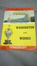 1975 Cup Final Programme - Warrington v Widnes with Match Ticket