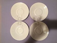 Set of Four (4)  ROSENTHAL Linear Grey & Black Raymond Loewy Saucers 6.5""