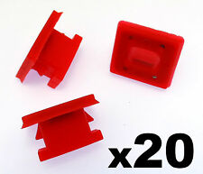 20x BMW Dashboard Trim Strip Grommet. Red Clips for Dash Insert. E46 E83 E65 E66