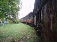 PHOTO  ROMANIA GHIOROC TRAM  DERELICT CARS V7