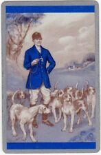 Playing Cards 1 Swap Card - Old Vintage Fox Hunting HUNT Dog Dogs HUNTSMAN Whip