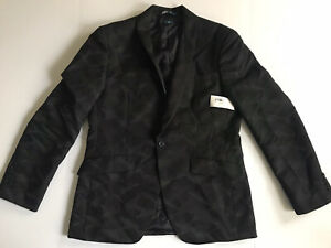 perry ellis blazer Mens 42 Regular Black