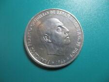 MONEDA DE 100  PESETAS 1966 19*67*  PLATA   FRANCO