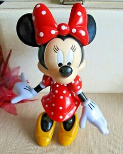 DISNEY Collectable Minnie Mouse in Red & White Polka Dot Dress 22cm Tall