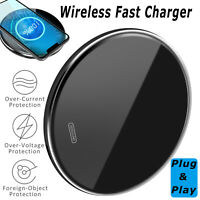 For iPhone 12 Pro Max 15W Qi Wireless Fast Charger Charging Stand Pad Mat Dock