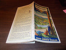 1949 Sunoco Pennsylvania Vintage Road Map