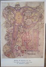 Irish Birth Christ ChiRho PAGE FROM BOOK OF KELLS Dublin Ireland Trinity Library