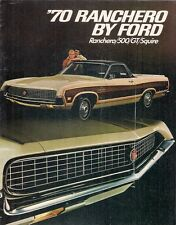 Ford Ranchero 1970 USA Market Sales Brochure 500 GT Squire