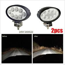 2x Oval LED Flood Driving Light Work Light 6000K IP 67 2000LM for SUV Car Truck