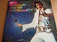 "ELVIS LEGENDARY CONCERT PERFORMANCES 12"" VINYL 33 RPM LP RCA RECORD R244047 1970"