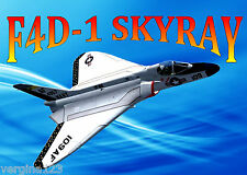 Model Airplane Full Size Printed Plans Ducted Fan Berkeley Skyray Plans