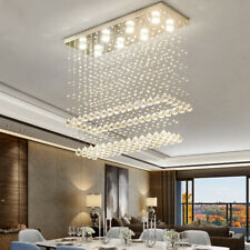 LED Crystal Chandelier Bedroom Ceiling Light Restaurant Lighting Rain Drop Lamp