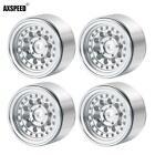 4PCS 1.0inch Aluminum Beadlock Wheel Rims for RC 1/24 Axial SCX24 90081 Crawler