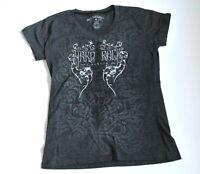 Hard rock couture Cafe Cayman Islands Tee Top woman t-shirt guitar studs logo