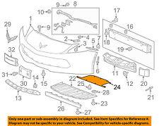 Chevrolet GM OEM 14-18 Corvette Front Bumper-Deflector 23135212