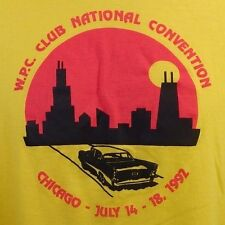 Vintage Soft W.P.C. Club National Convention Chicago 1992 Graphic T-Shirt USA