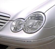 Mercedes Benz Clase C 2 Puertas Coupe W203 Nuevo Cromado Faros Adornos 2000 - 2007