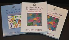 The Right Answer ModuMath Study Guides Lot of 3 Math Measurement Algebra