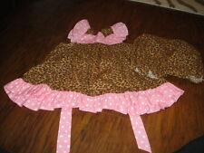 BOUTIQUE LITTLE BELLES AND BEAUS 6-9 LEOPARD CHEETAH DRESS BLOOMER SET