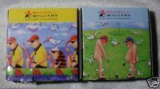 MAXWELL&WILLIAMS TEA BAG TIDY SKINS TOURNAMENT & FABULOUS FOUR PAIR SJ509/512