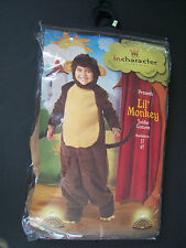 New Lil' Monkey 3T Plush Toddler Halloween Costume for 2T-3T