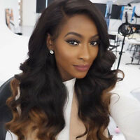 Brazilian Glueless Full Lace Wigs Ombre Wave Virgin Human Hair Lace Front Wigs
