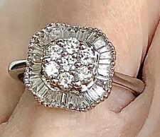 Estate 18K WHITE GOLD 3/4 CARAT Natural DIAMOND Ring ~Gorgeous!