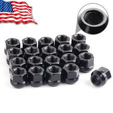 20 Black 1/2x20 Lug Nuts Open End Cone Seat for 87-04 Dodge DAKOTA 98-03 DURANGO
