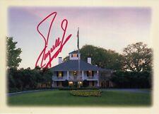 Fuzzy Zoeller #0   Master Postcard Signed w/ COA  Golf  -