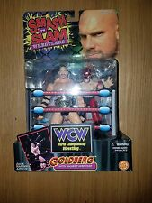 "1999 TOY BIZ WCW SMASH 'N SLAM WRESTLER ""GOLDBERG "" ACTION FIGURE MIB& MINI CAR"