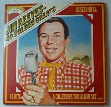 "JIM REEVES 40 GOLDEN GREATS ARCADE 2 x 12"" LP GATEFOLD 1971 VG/VG -  ADE P16"