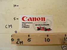 STICKER,DECAL CANON OFFICIAL CAMERA  GRAND PRIX BELGIUM F1 SEE YOU IN ZOLDER