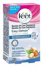 Bandas de cera depilatoria axilas y Área del bikini pieles sensibles Veet (