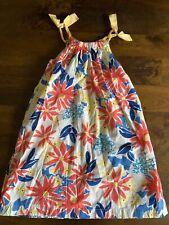 Girls Lands'End  Kids Floral Print Dress Size 8 Mint Condition