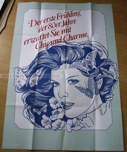 GERMAN HAIRDRESSER PROMOTION art POSTER - FIRST SPRING IN 1980ies