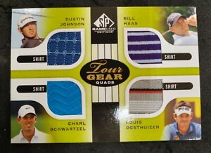 2012 SP Game Used Tour Gear Quads Shirts Johnson Haas Schwartzel Oosthuizen!!