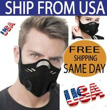 Face Mask Air Activated Carbon Filter Double Cotton Reusable Washable, USA Ships