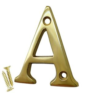 Brass Modern House Letter LT-BR2351 2 Inch | FREE Shipping US - by RCH Hardware