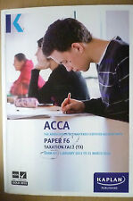 ACCA F6 KAPLAN EXAM KIT- 1 January 2013 to 31 August 2014(9780857326805,Taxation