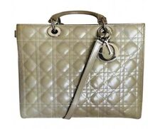 Classic Lady Dior, Patent Beige, Used