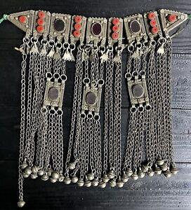 ZED900 - YEMEN - Antique Yemenite Jewish Multi Pendant Choker Necklace - 1900s