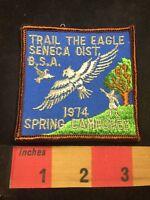 Vtg 1974 TRAIL THE EAGLE SENECA DISTRICT BSA Boy Scouts Patch 80XE