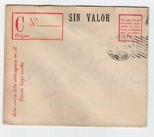 "CHILE 1918 RARE ""SIN VALOR"" service cover real circulated Santiago to Valdivia"