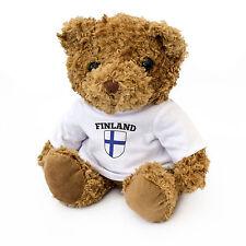 NEW - FINLAND FLAG - Teddy Bear - Cute And Cuddly - Gift Present Birthday Xmas