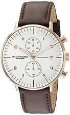 Stuhrling Original 803.04 Men's Monaco Analog Display Quartz Brown Watch